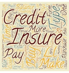 Learn What Credit Insurance Can Do For You text vector image vector image