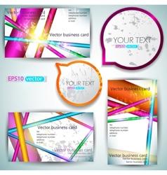 modern business-card set vector image vector image