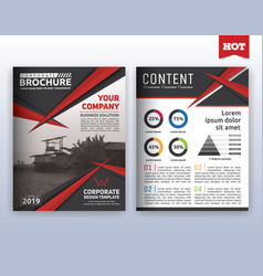 modern corporate business flyer layout template vector image vector image