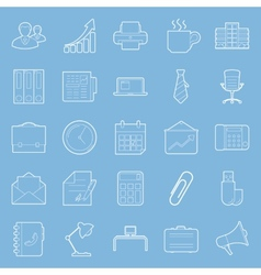 Office and marketing thin lines icons set vector image vector image