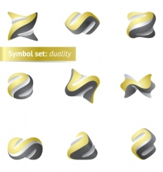 symbol set duality vector image