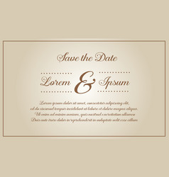 Wedding invitation style vector
