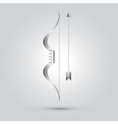 archer ninja weapon vector image