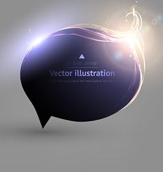 Black Speech Bubble for Design vector image vector image