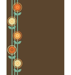 Brown Flower Border vector image vector image