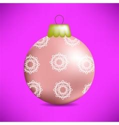 Christmas Pink Glass Ball vector image vector image