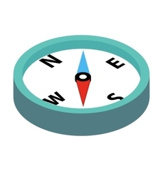 Compass 3d isometric icon vector image vector image