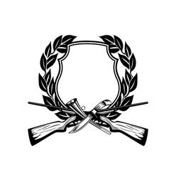 framework hunting theme vector image vector image
