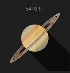 saturn planet vector image vector image