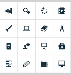 set of simple ui icons vector image vector image