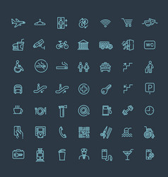 simple set of public navigation related vector image vector image