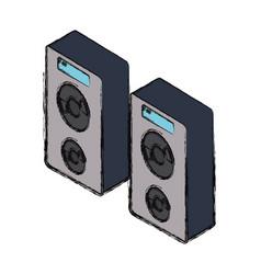 speaker sound design vector image