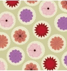 vintage flowers frame decoration vector image