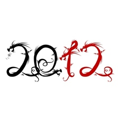 2012 year of dragon for your design vector image