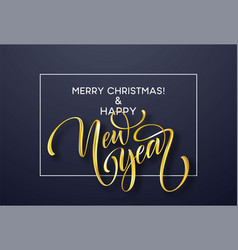 2019 new year golden hand written lettering with vector image
