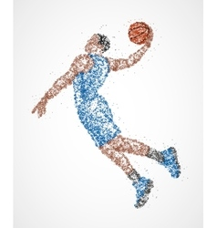 Abstract basketball athlete vector