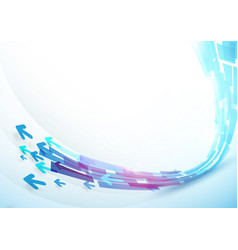 abstract blue curve line shape background design vector image