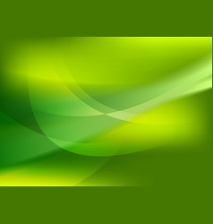 Abstract green soft waves background vector image