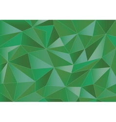 Abstract green triangles 3d background vector image