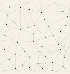 abstract triangle background dots connected with vector image