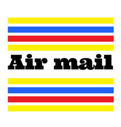 Air mail stamp on white vector