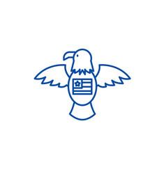 american eagle line icon concept american eagle vector image