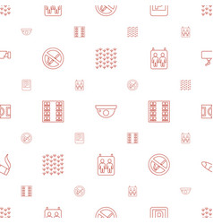 area icons pattern seamless white background vector image
