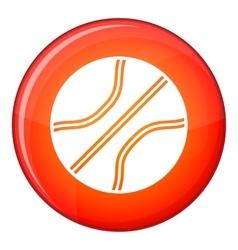 Basketball ball icon flat style vector