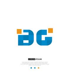 Bg or gb logo letter initial design template vector