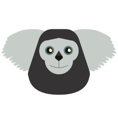 Black bearded saki animal brazil vector