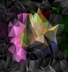 black pink polygonal triangular pattern background vector image