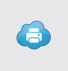 Blue printer icon vector