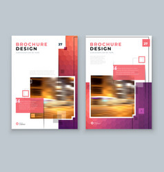 Brochure design a4 cover template for vector
