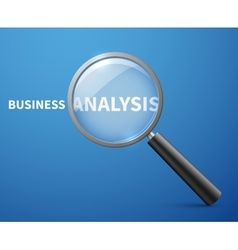 Business analysis concept background with vector