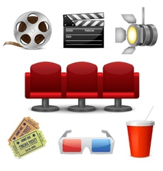Cinema entertainment decorative icons vector