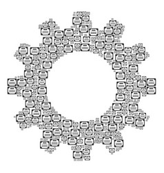 Cogwheel collage of license icons vector
