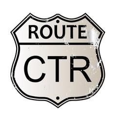 Ctr highway sign vector