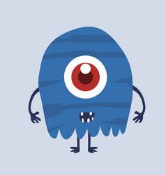 Cute monster cartoon character 007 vector