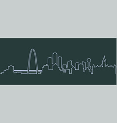 Dallas single line skyline vector