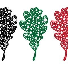 Decorative Leaf Silhouette3 vector image