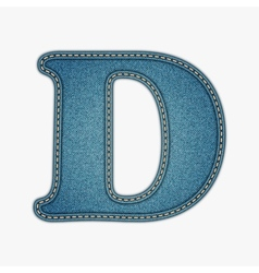 Denim letter Jeans alphabet vector image