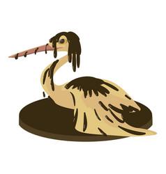 Dirty bird icon cartoon style vector