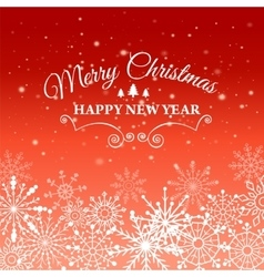 E-card for Happy New Year and Merry Christmas vector image