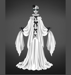 female pierrot character suit 3d realistic vector image