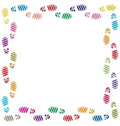 Foot prints border vector