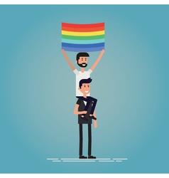 Gay pride characters vector image
