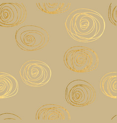 Gold texture circles seamless pattern abstract vector