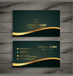 golden company business card design vector image