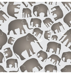 gray elephants simple seamless pattern eps10 vector image