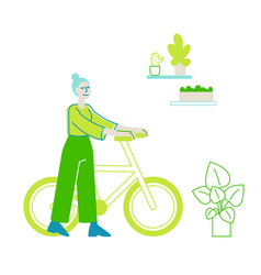 green eco friendly office nature environment vector image